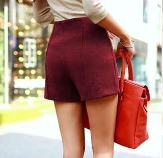 High Waisted Maroon shorts 💜