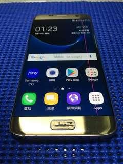 三星 s7 edge Samsung 螢幕有線條 功能正常 外觀如圖 掛網機 安卓 付盒子