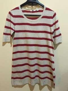 UNIQLO stripes top atasan rajut