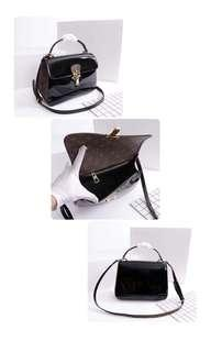 LV Louis Vuitton Black Glossy Sling Bag Hand Bag