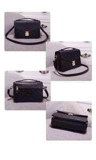 LV Louis Vuitton Black Sling Bag Hand Bag