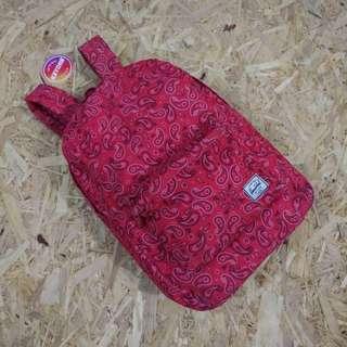 Herschel Settlement Red Paisley Daypack Original