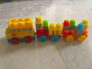 Bus train blocks toys