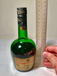 COURVOISIER  Cognac - 20 cm  Vintage Bottle
