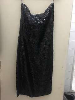 H & M Sequined Black Party Dress