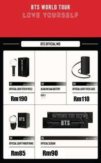 Bts concert merchandise in Singapore