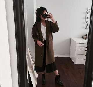 ZARA Green/Brown Coat