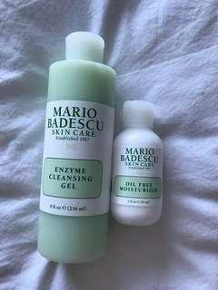 Mario Badescu enzyme cleansing gel & oil free moisturizer