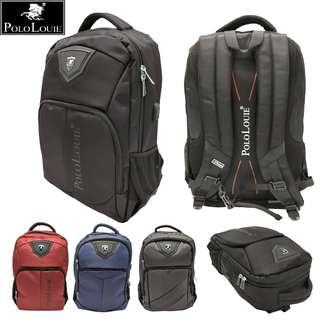 Multi-function Original Polo Louie Backpack USB Office Laptop Bag Office Travel