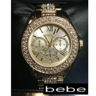 全新美國品牌BEBE帥氣.華麗女性手錶
