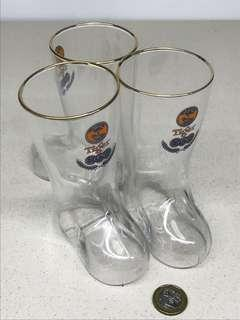 Tiger Beer Boot Glass 330ml (3 pcs)