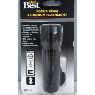 DO IT BEST Focus Beam Aluminum Flashlight 140 Lumens