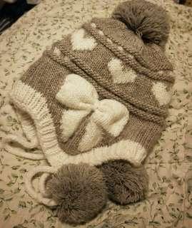 🚚 冬季可愛毛帽 茸球  森女 台灣製