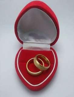 Titanium Super Gold Rings