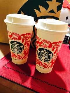 🚚 Starbucks星巴克耐熱聖誕杯(剩一個)