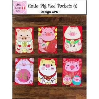 Cutie Pig Red Packets for Sale (Big & Small)