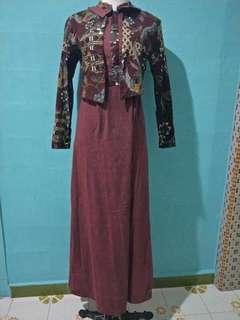 Preloved Long Batik Dress