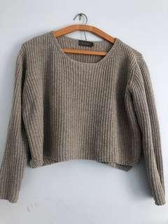 Cropped knit jumper
