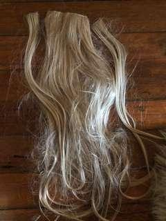 Hair extension blonde clip ons