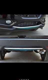 Honda hrv vezel front and rear chrome trim silver bumper