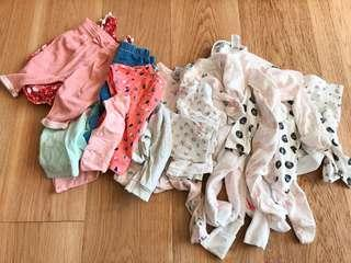 Baby girl bundle size 00 (3-6 months)