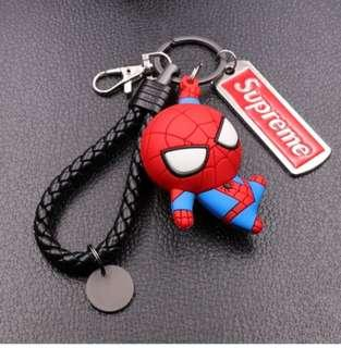 🚚 [ High Positive Rating ] The Marvel Avengers Hero Anime Keyring Spiderman 3D Double Side Silicone Keychain Captain Cartoon Keychain Child Gifts Supreme Captain America Keychain Spiderman Keychain Supreme Keychain Ironman Keychain Marvel 333