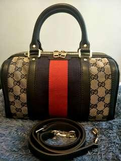 Gucci Vintage Web GG Boston Bag