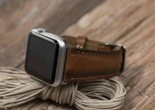 🚚 Leather Band for Apple Watch 42mm 44mm (Burnished Tan)