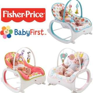 Ready Stock! Brand New Fisher Price Baby Infant To Toddler Rocker (4 Colors To Choose) *Best For Baby Girl/Boy Shower Newborn Gift Set* *USA Imported*