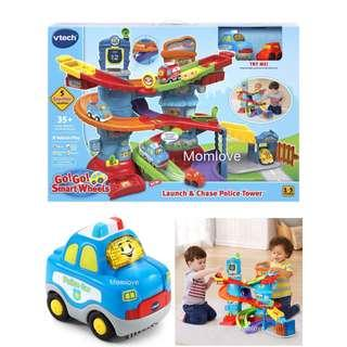 Ready Stock! *USA Imported Set* Brand New Vtech Go! Go! Smart Wheels Launch and Chase Police Tower (Best Birthday Present For Baby Boy)