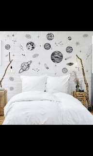 🎉New Arrival Space Planet Sketch Wall Sticker Living Room TV Sofa Study Background Decoration ⭕Size see last picture *CM