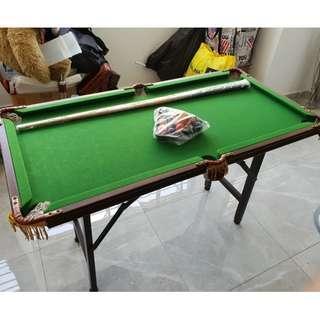Used vintage rare portable foldable  billard pool table