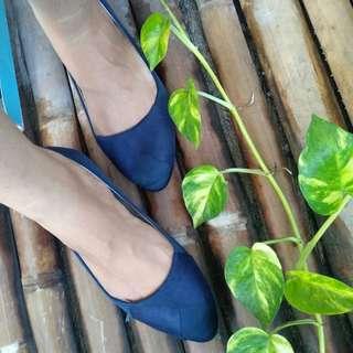 Zalora Navy Blue Flatshoes