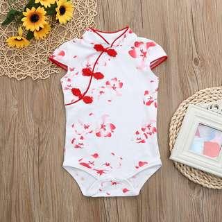53087bdc3 Instock - red floral cheongsam romper, baby infant toddler girl