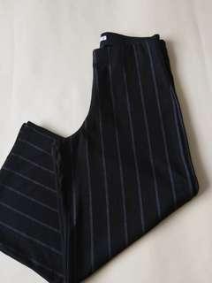 PULL & BEAR Striped Black Cullotes