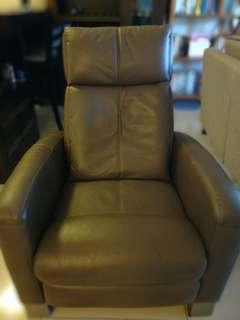TV Chair Leather Recliner