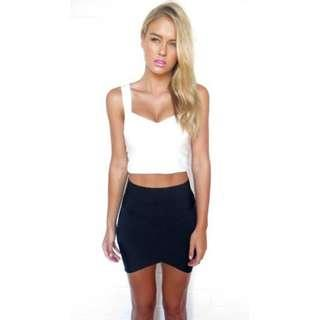 White bandage summer frstival clubbing top