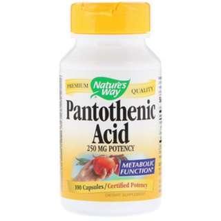 Nature's Way, Pantothenic Acid, 250 mg, 100 Capsules