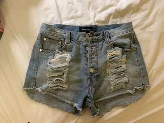 Mink pink ripped shorts