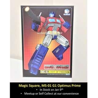 (In Stock) Magic Square, MS-01 Light of Freedom, G1 Optimus Prime (Transformers Masterpiece)