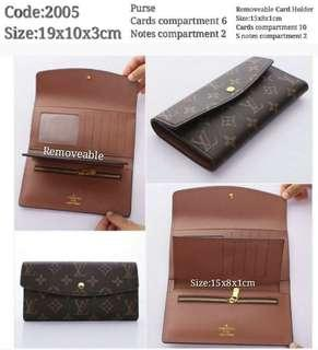 LV Wallet with card holder with box