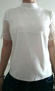 TopShop White Lace Top