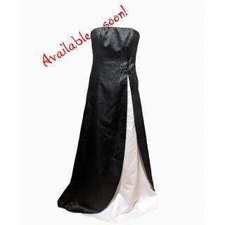 Jessica Long North Star Diplo Dress - Size 6 - Night/Satin White