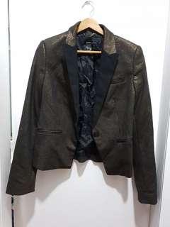 #EST50 Mango Suit Black Gold Blazer