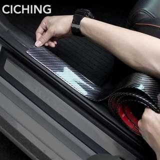 3cm by 1meter Carbon Fiber Rubber Car Styling Door Sill Protector