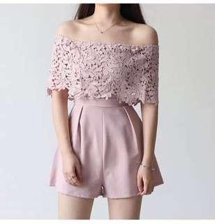 Embroidered Lace Jumpshort