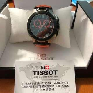 TISSOT T-Race Chronograph Men's Orange Rubber Strap Watch