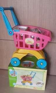 Just Like Home Pretend Play Shopping Trolley Toy
