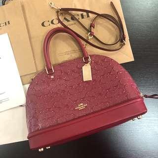 Coach Sierra debossed patent leather satchel