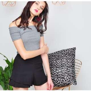 Purpur tahiti layered shorts